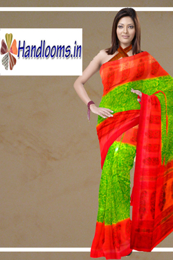Latest Contrast skirt border kitcha silk printed sari latest Indian womens wear saree