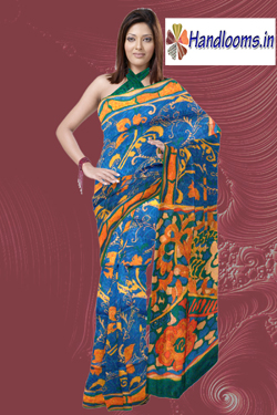 Latest Florical design printed Bhagalpur silk for party wear