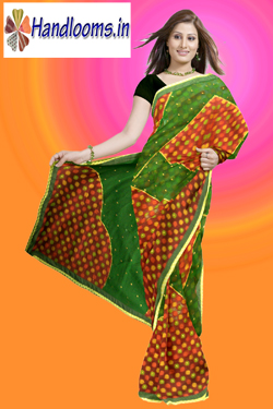Latest ethnic Patola cut work with patch work saree for party wear